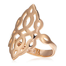Bronzo Italia Scrollwork Design Ring
