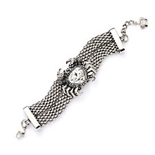 Butler & Wilson Crystal Crab Double Chain Bracelet