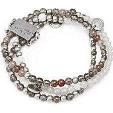 Sence Copenhagen Triple Strand Semi Precious Magnetic Clasp Bracelet