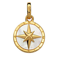 Links of London Amulet Keepsakes MOP Compass Pendant Sterling Silver