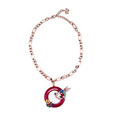 Butler & Wilson Crystal Bird & Flowers 42cm Necklace
