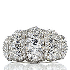 Michelle Mone for Diamonique 1.75ct tw Pave Statement Ring Sterling Silver