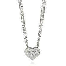 Frank Usher Crystal Sparkle Heart Necklace
