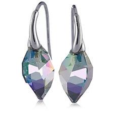 Aurora Swarovski Crystal Twisted Drop Cut Earrings