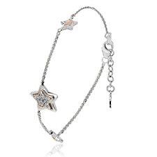 Clogau 9ct Rose Gold & Sterling Silver David Emanuel Topaz Bracelet