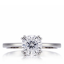 Diamonique 1.5ct tw Double Prong Solitaire Ring Sterling Silver