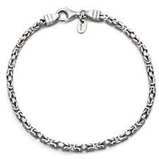 Bianca Platinum Plated Byzantine 19cm Bracelet Sterling Silver