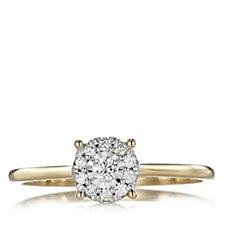 317354 - 0.15ct Diamond Unity Ring 9ct Gold