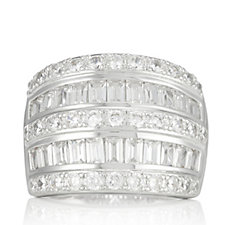 Diamonique 1.8ct tw Band Ring Sterling Silver