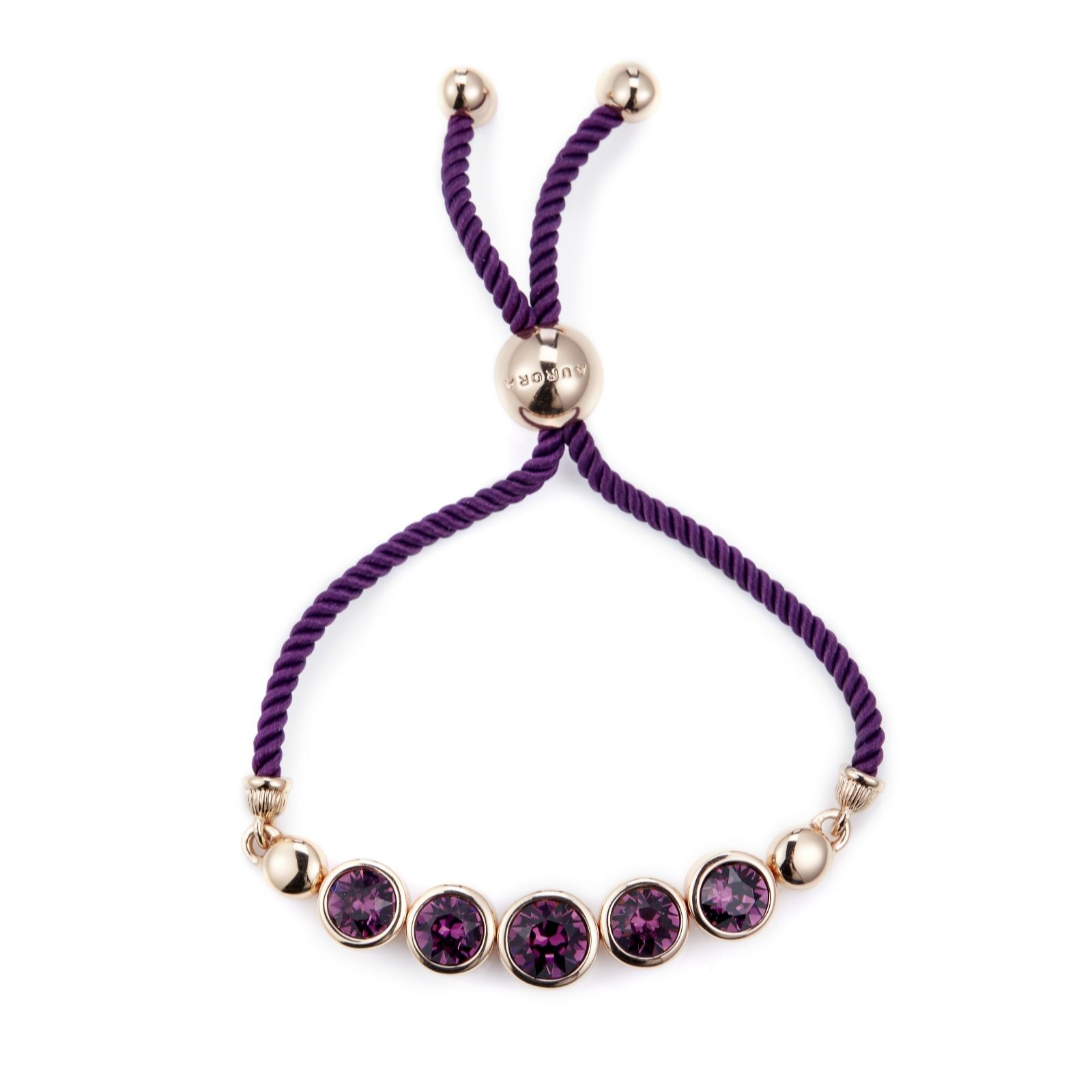 Aurora Swarovski Crystal Faceted Friendship Bracelet 302055