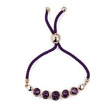 302055 - Aurora Swarovski Crystal Faceted Friendship Bracelet