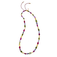 Lola Rose Islington Semi Precious Adjustable 93cm Necklace