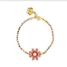 Butler & Wilson Delicate Flower Crystal Chain Bracelet