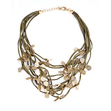 306255 - Frank Usher Suede Effect Multi Strand Necklace