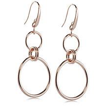 Bronzo Italia Interlinked Circles Drop Earrings