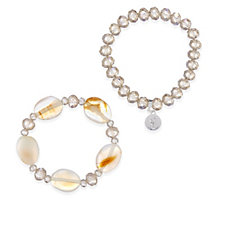 Bcharmd Cruise Poolside Semi Precious Set of Two Stretch Bracelets