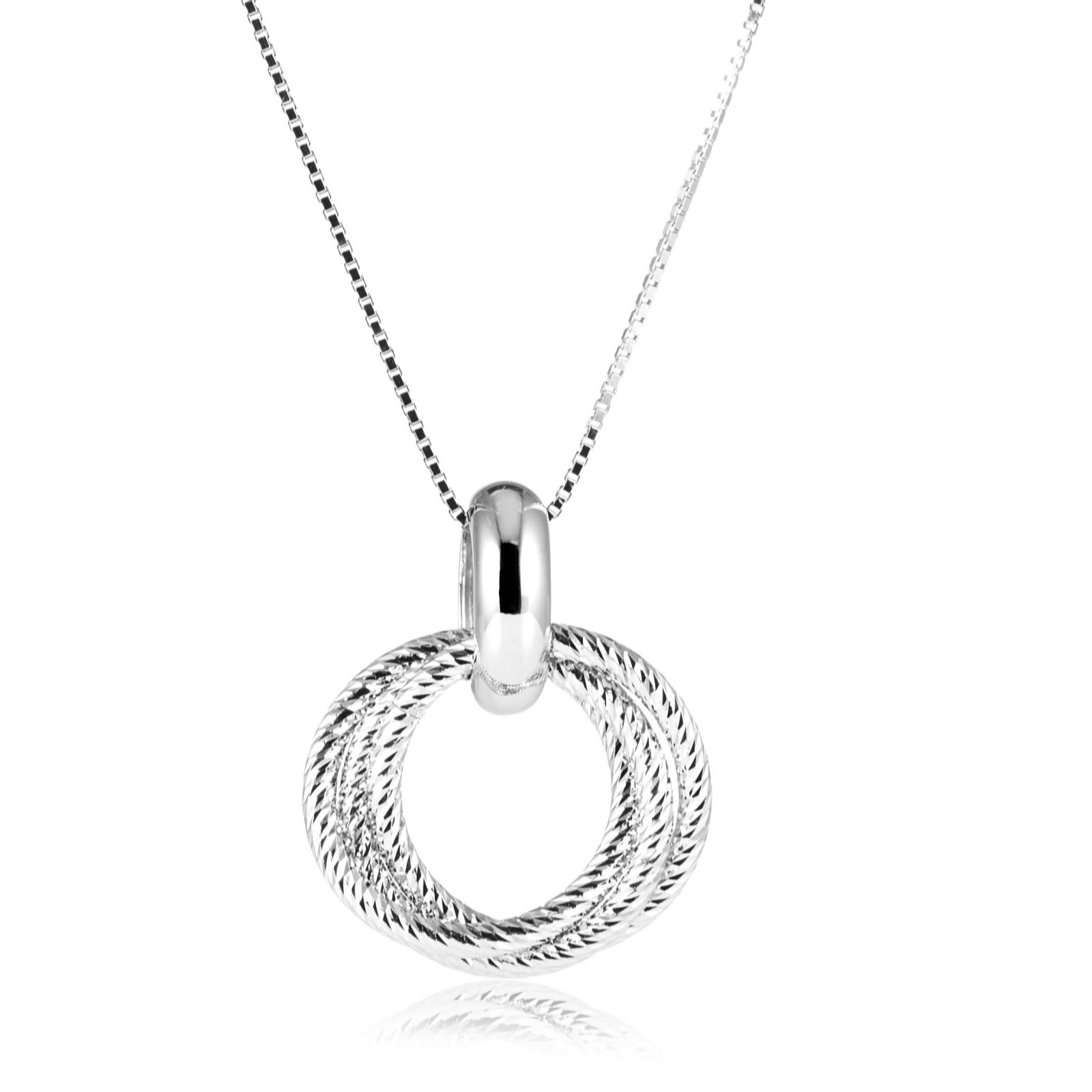 Links Of London Aurora Cer 47cm Necklace Sterling Silver 309655