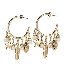 Bibi Bijoux Star Charm Hoop Earrings