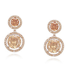 Frank Usher Double Drop Crystal Earrings