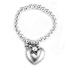 Bibi Bijoux Ball Bead 17cm Bracelet with Charm & Crystals