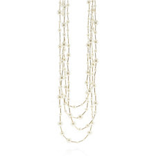 Frank Usher 4 Row Simulated Pearl 71cm Necklace
