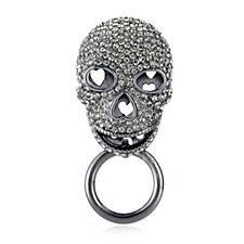 Butler & Wilson Crystal Skull Glasses Holder Brooch
