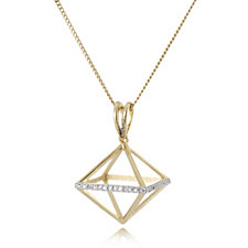 Lisa Snowdon Destello Diamond 3D Pendant & Chain Gold Vermeil Sterling Silver