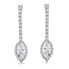 Michelle Mone for Diamonique 5.1ct tw Drop Earrings Sterling Silver