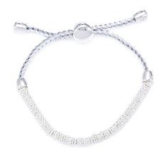 Links of London Effervescence XS Cord Friendship Bracelet Sterling Silver