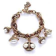 Outlet Butler & Wilson Vintage 5 Crystal Crowns 22cm Bracelet