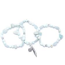 Bcharmd Set of Three Stretch Bracelets