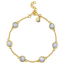 K by Kelly Hoppen 17+3cm Gemstone Bracelet 18ct Gold Vermeil Sterling Silver