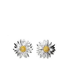 Azendi Birthday Flowers Marigold Earrings Sterling Silver