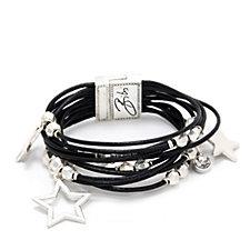 Bibi Bijoux Layered Leather Star Bracelet