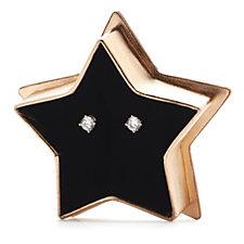 Diamonique 2ct tw Stud Earrings in Star Bauble Sterling Silver