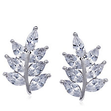 Diamonique 3.5ct tw Marquise Stud Earrings Sterling Silver