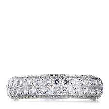 Michelle Mone for Diamonique 1.4ct tw Pave Eternity Ring Sterling Silver