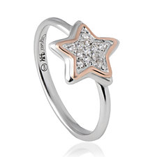 Clogau 9ct Rose Gold & Sterling Silver David Emanuel Topaz Ring