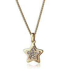 Clogau 9ct Gold David Emanuel Swarovski Topaz Star Necklace