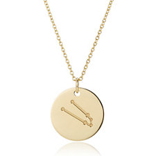 310357 - K by Kelly Hoppen Zodiac 45cm Necklace 18ct Gold Vermeil Sterling Silver