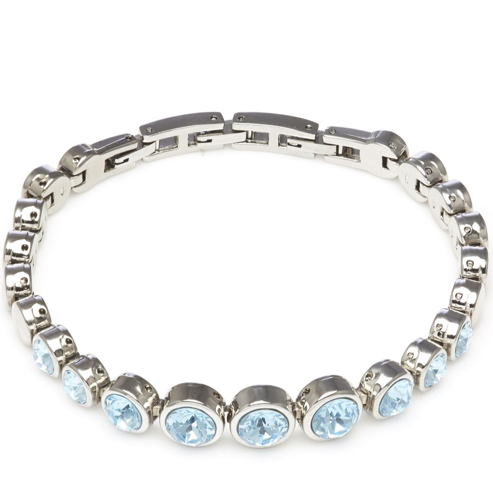 Aurora Swarovski Crystal Tennis Bracelet With Adjule Links 312457