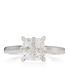 318857 - 1ct Diamond Princess Cut Seamless Set Ring 9ct Gold