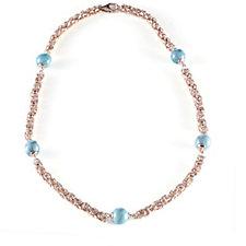 Bronzo Italia Turquoise Bead Byzantine 50cm Necklace
