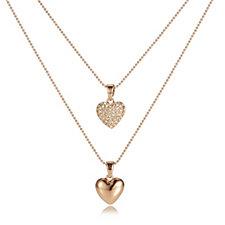 Frank Usher Heart Pendant & Double Length 57cm Chain