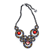 Butler & Wilson Crystal Circle Drop 43cm Necklace