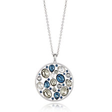 Frank Usher Crystal Cluster Long Pendant Necklace