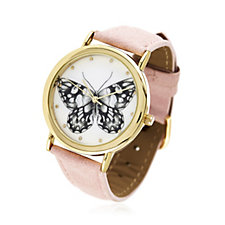 Gossip Butterfly Print Watch