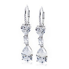 Michelle Mone for Diamonique 6ct tw Mixed Cut Earrings Sterling Silver