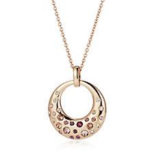 Aurora Swarovski Crystal Circular Bubble 52cm Necklace