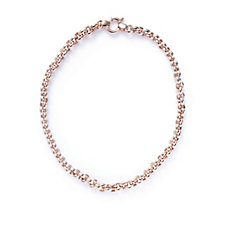 Bronzo Italia Belcher Link Bolt Ring Necklace